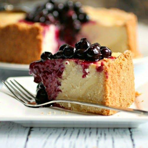 Blueberry Ricotta Cream Cheesecake