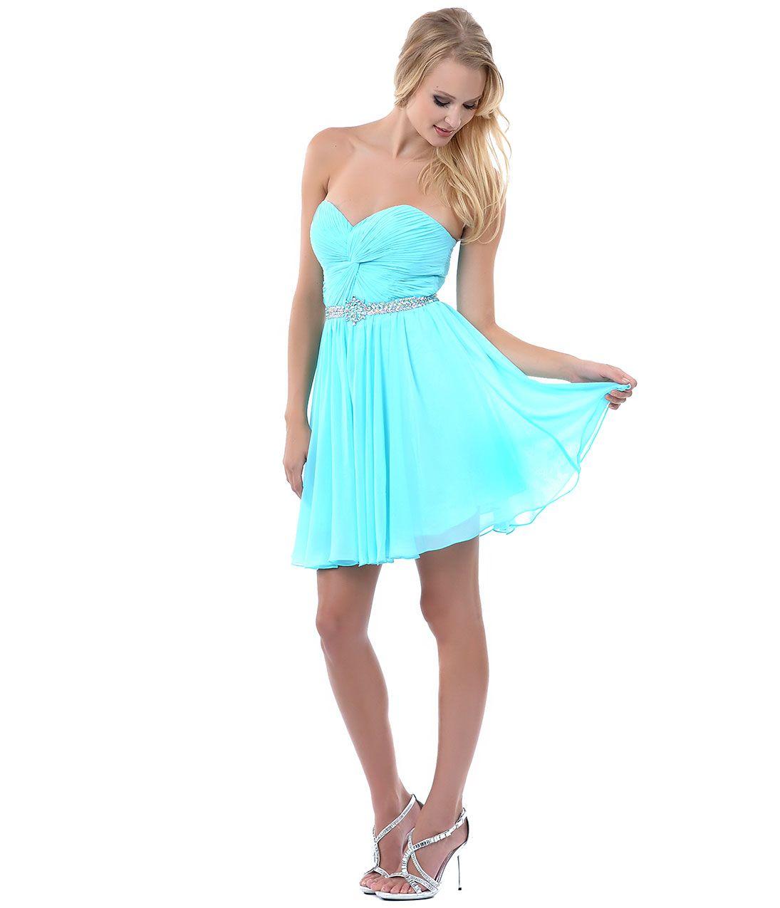short rayol blue bridesmaid dresses   Strapless Sequin Chiffon Short ...