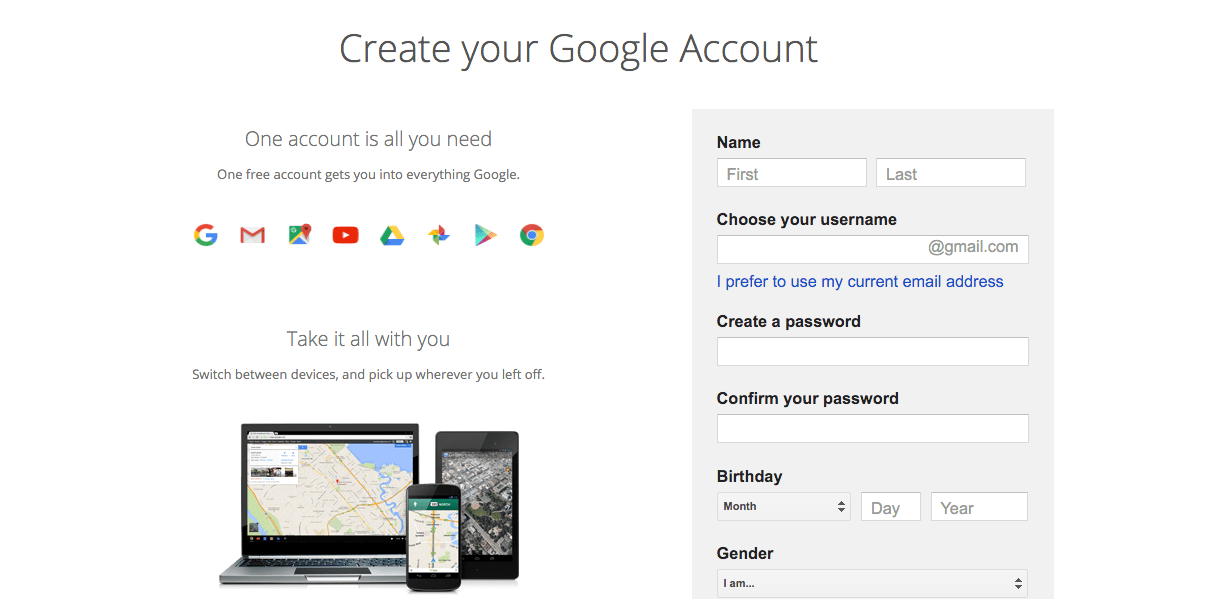 Create New Google Account How To Make A New Google Account With