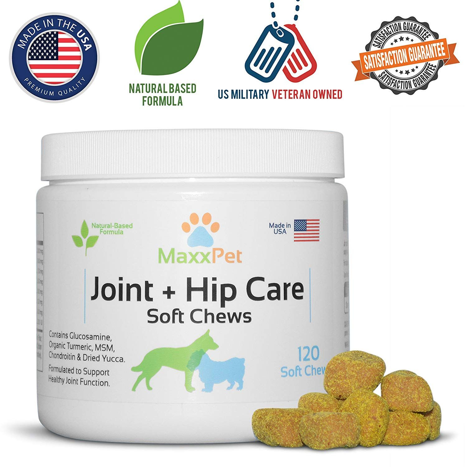 Maxxpet Dog Joint And Hip Chews Natural Supplement Supports