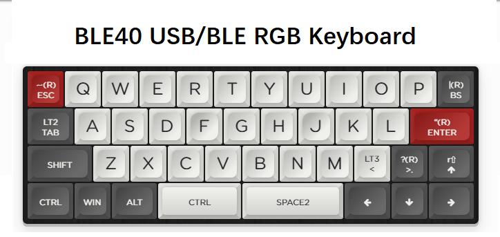 BLE40 RGB 40% mechanical keyboard customized PCB kit