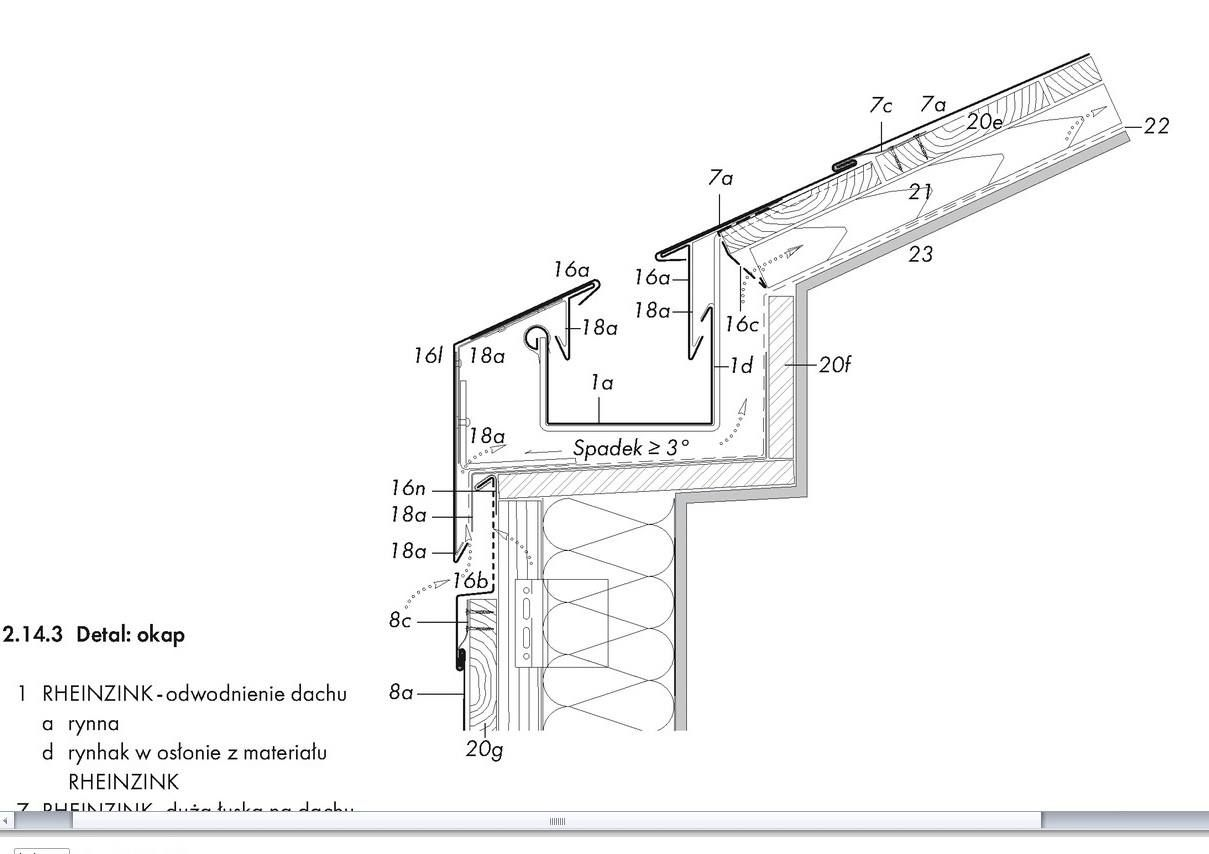 Ukryta Rynna Arch Technical Drawing In 2019 Gable Roof