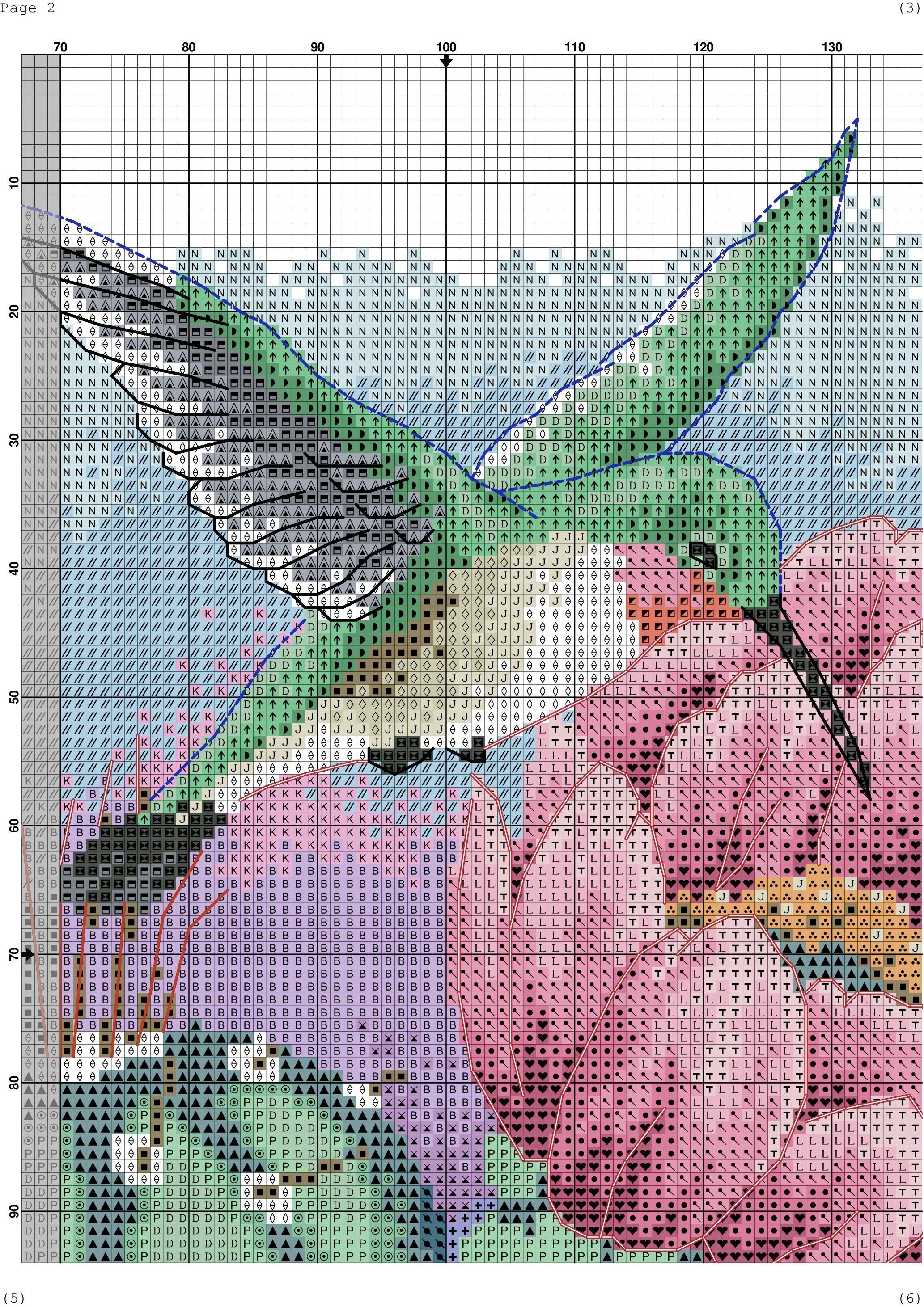 Birds of a Feather gorriones en Flor de Primavera Flores Cuadro De Punto De Cruz