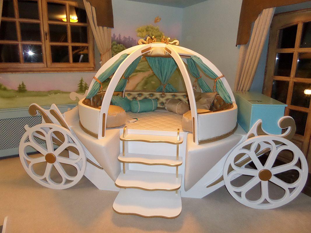 Cinderella Bed For Girls, Cinderella Bedroom For Girls, Pumpkin Carriage  Hamupipőke Gyerekszoba, Tökhintó