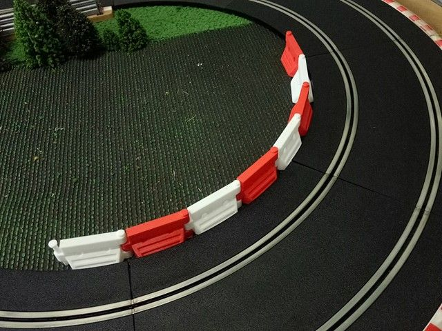 1 32 Scale Barriers To Add Some Life To Your Slot Car Track Slot Car Tracks Slot Cars Carrera Slot Cars