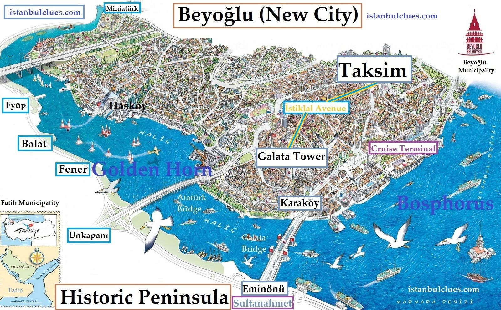 istanbul tourist map attraction sightseeing pdf 2018 istanbul clues