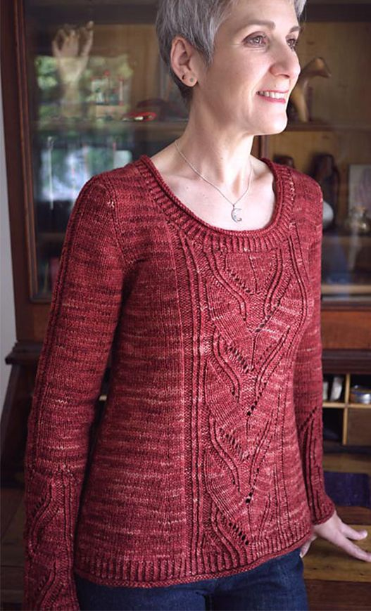 Knitting Pattern For Leaving Pullover Or Cardigan This Feminine