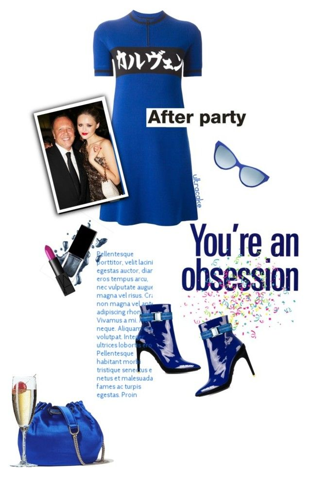 """""""You're an Obsession"""" by ultracake ❤ liked on Polyvore featuring Moschino, Diane Von Furstenberg, Off-White, Carven, Michael Kors, NARS Cosmetics, Blue, fashiontrend, afterparty and ultracake"""