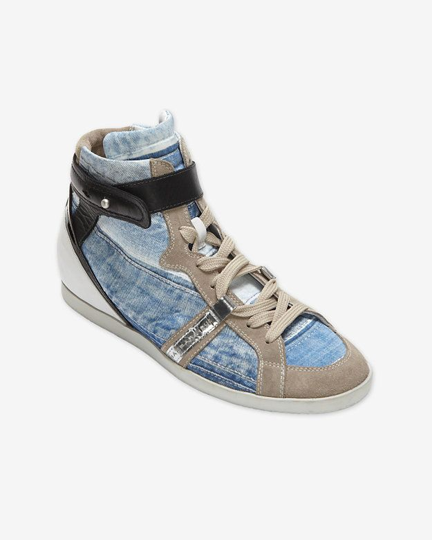 Barbara Bui High Top Denim Sneakers