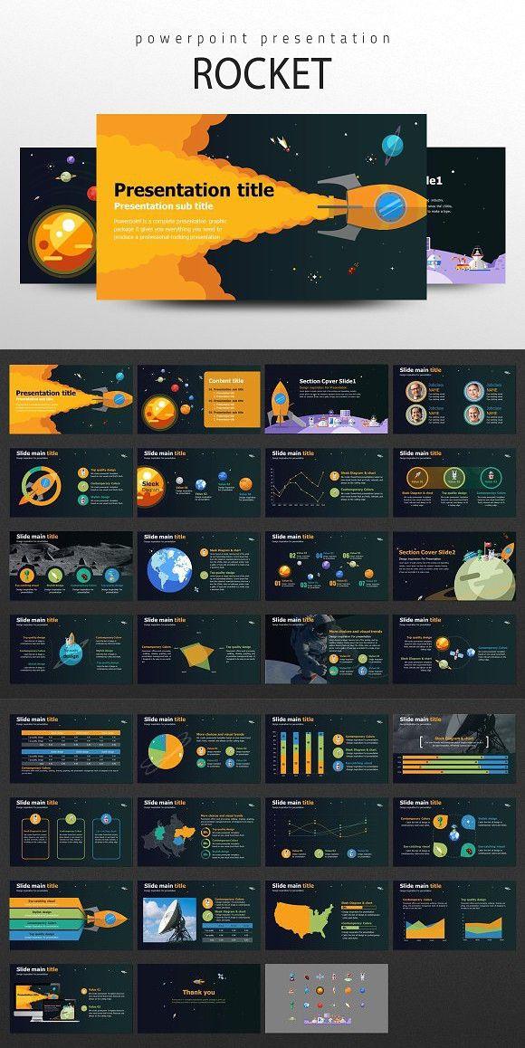 Rocket Powerpoint Template. Presentation Templates
