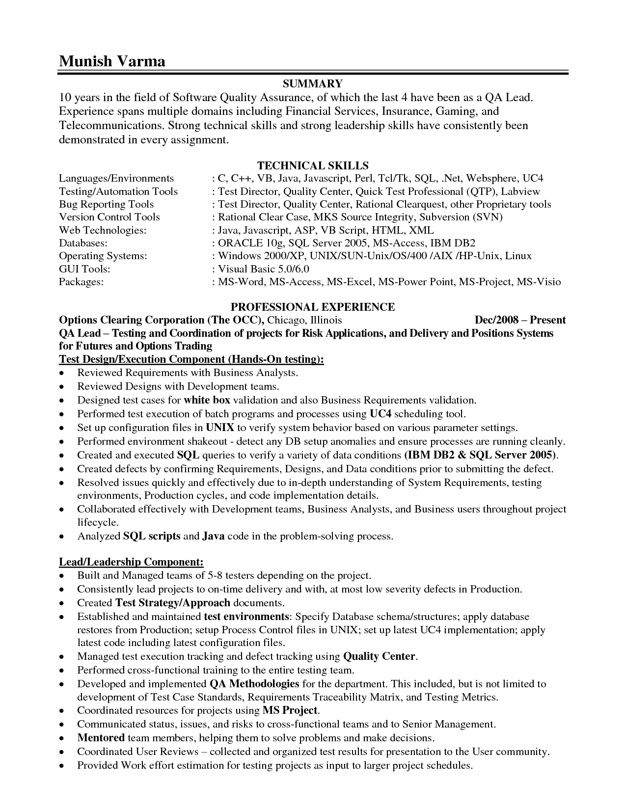 Sample Resume · Leadership Skills On Resume