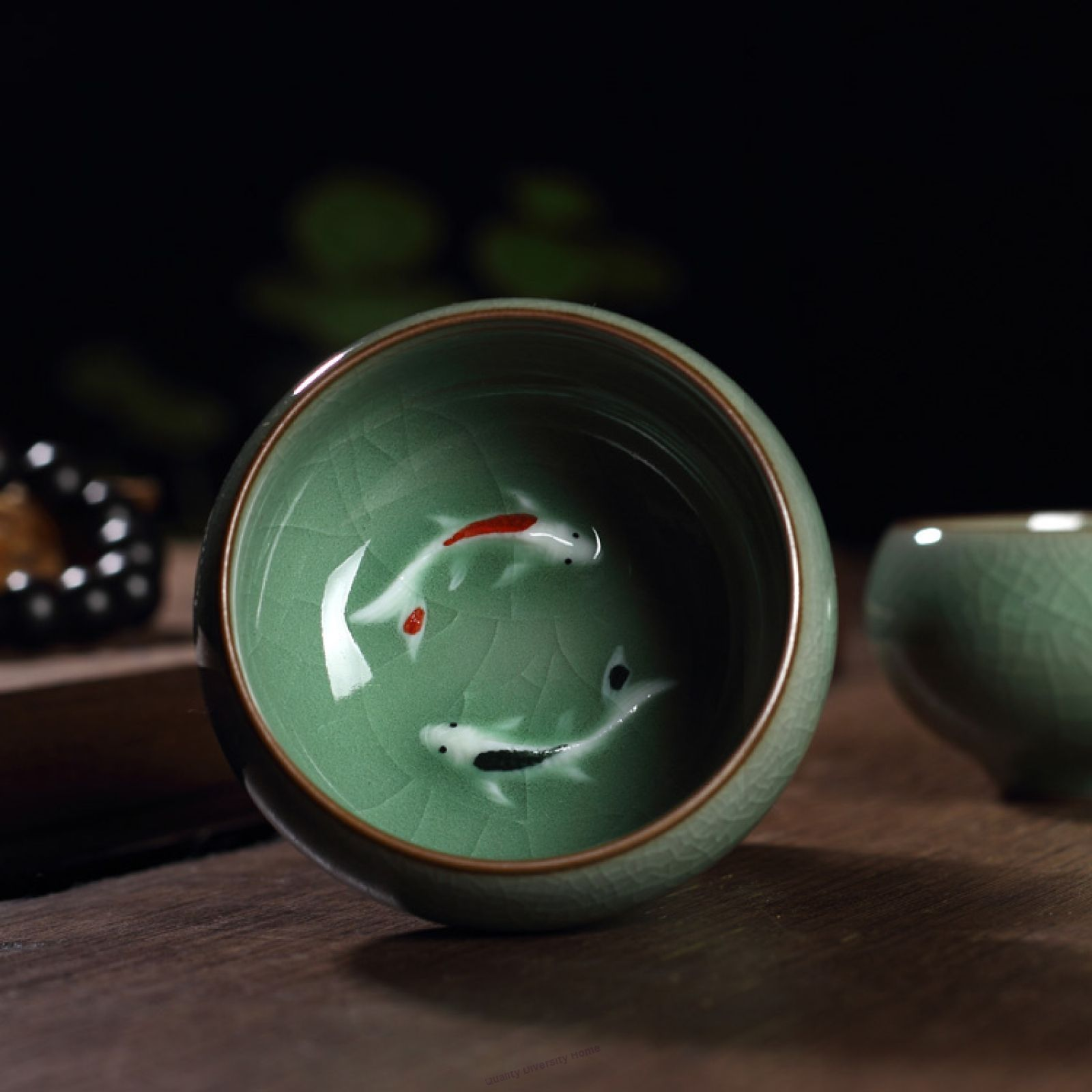2pcs//lot China tea cup porcelain fish relief cup of tea Chinese kungfu tea cups