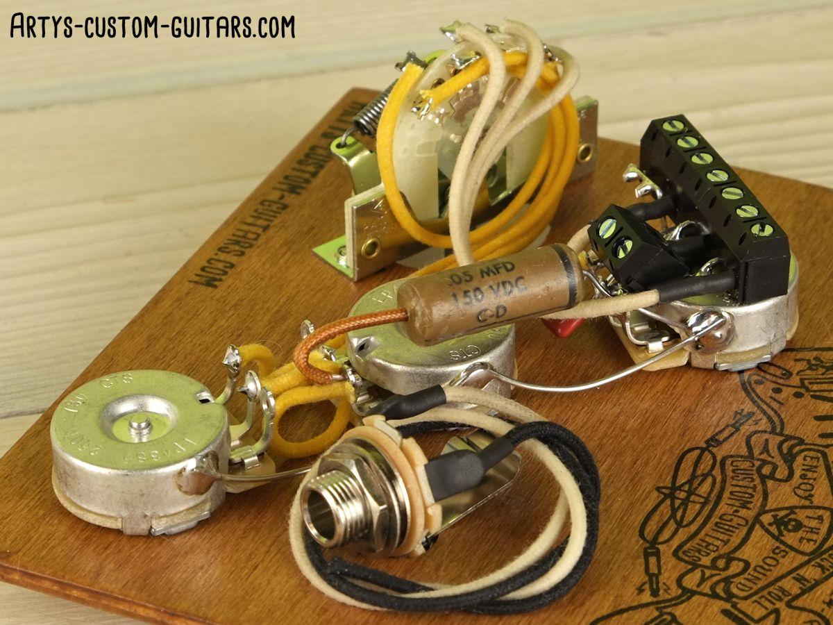 JAZZ BASS Vintage Prewired Kit J-Bass ARTY/'s CUSTOM Wiring Set Assembly Harness