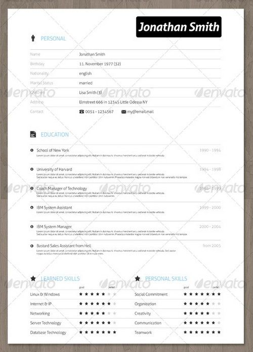 Fun Resume Templates 25 Modern And Professional Resume Templates  Ginva  Professional