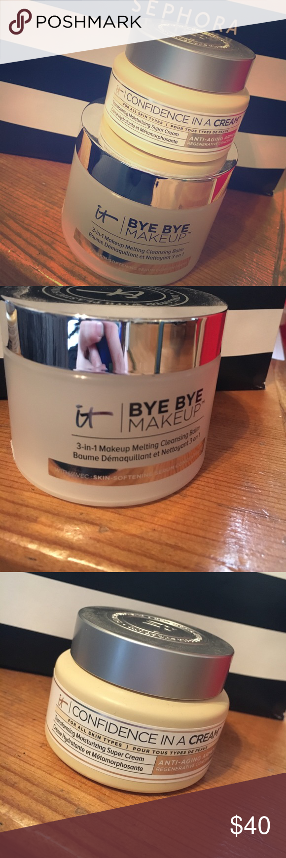 Confidence in a cream and byebye make up Confidence in