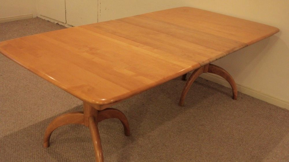 Heywood Wakefield Mid Century Modern Dining Table Extendable