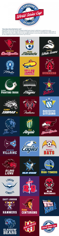 Europe S Top Football Teams Logos Got Re Designed Like American