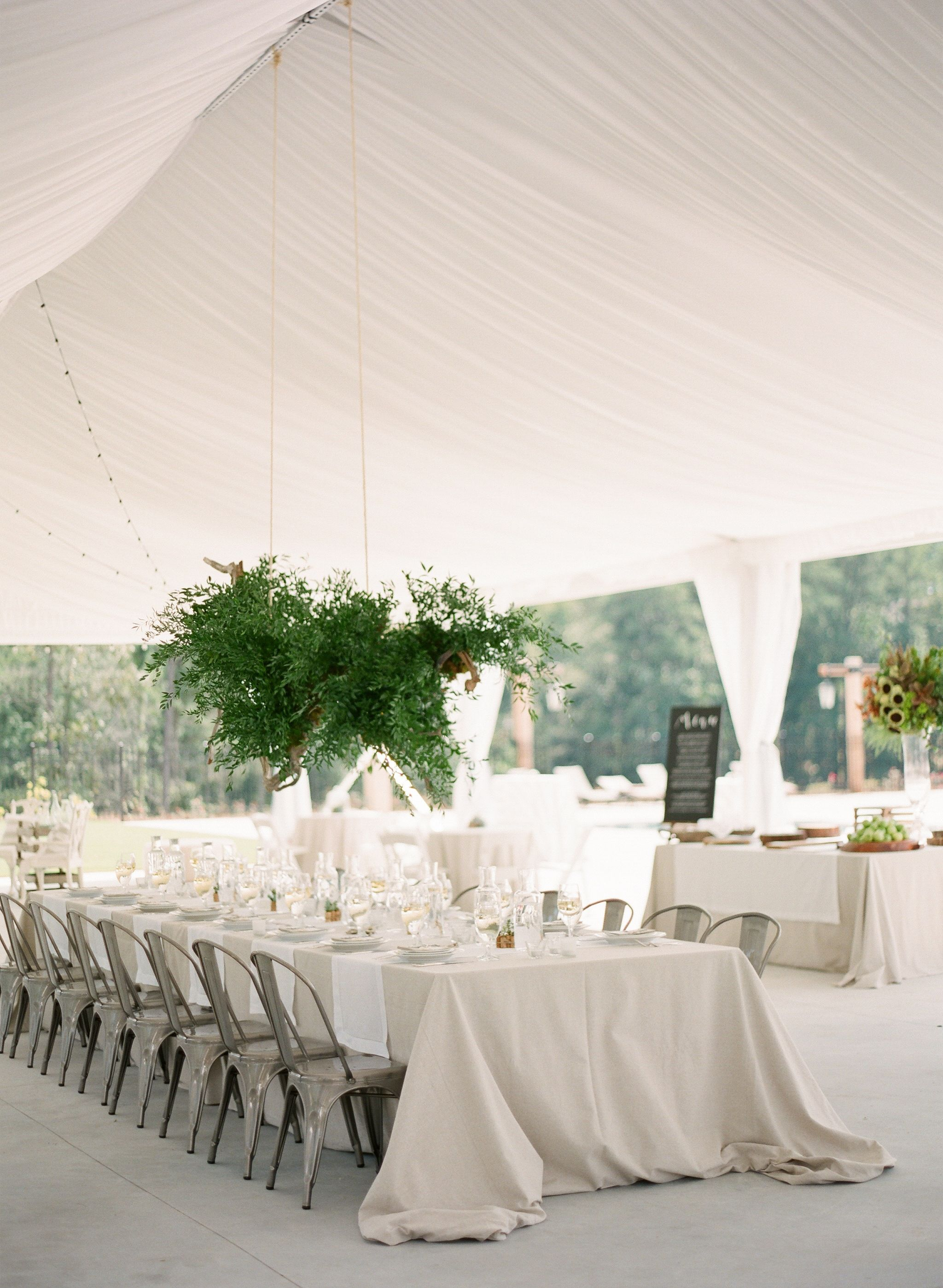 Chic Modern Event Design At Foxhall Resort With D Tent Spectacular Hanging Fl Display