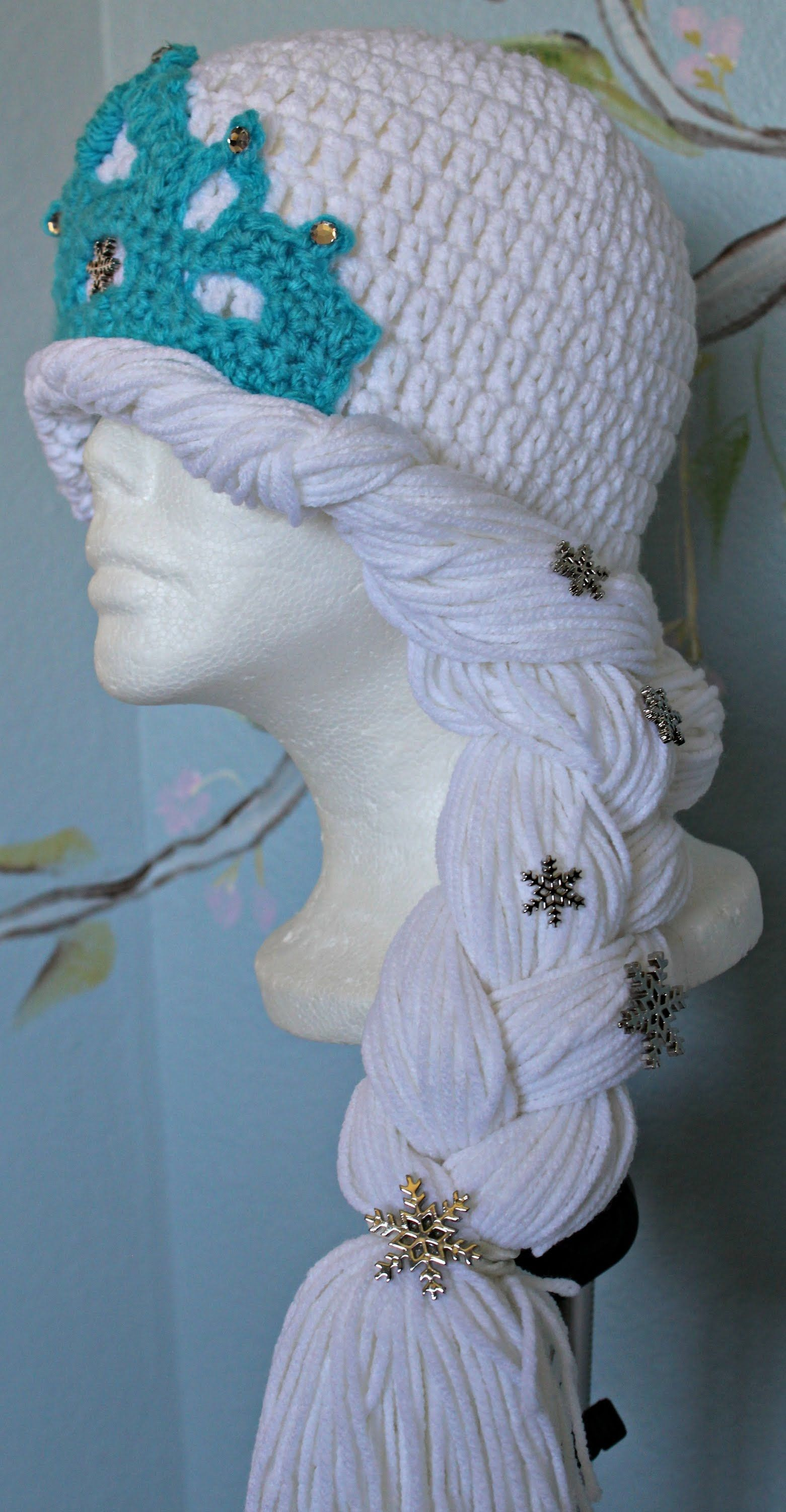 Crochet - winter princess hat ( video one)- Inspired by Disney\'s ...