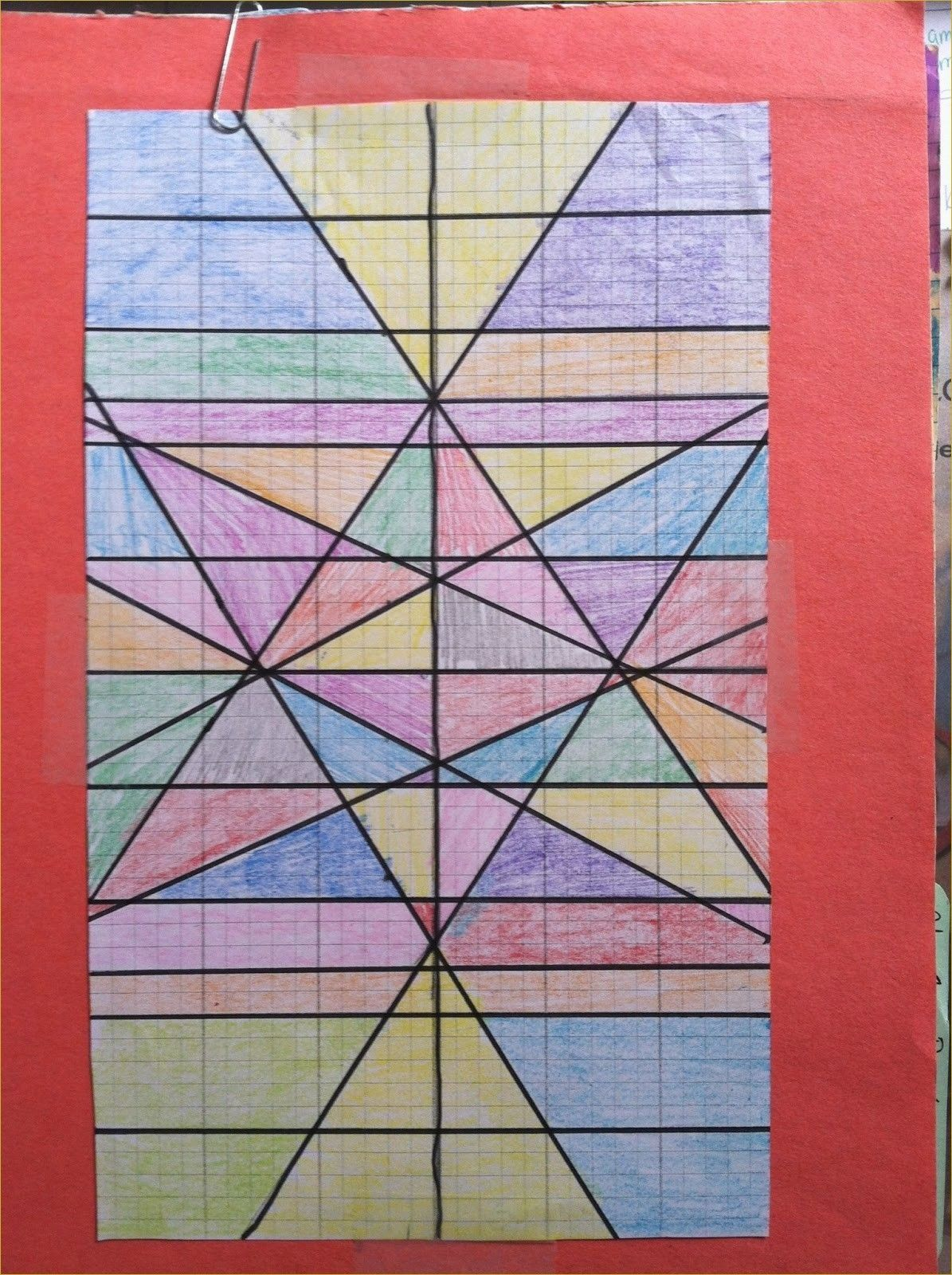 Stained Glass Blueprints Math Worksheet Raymond S Run