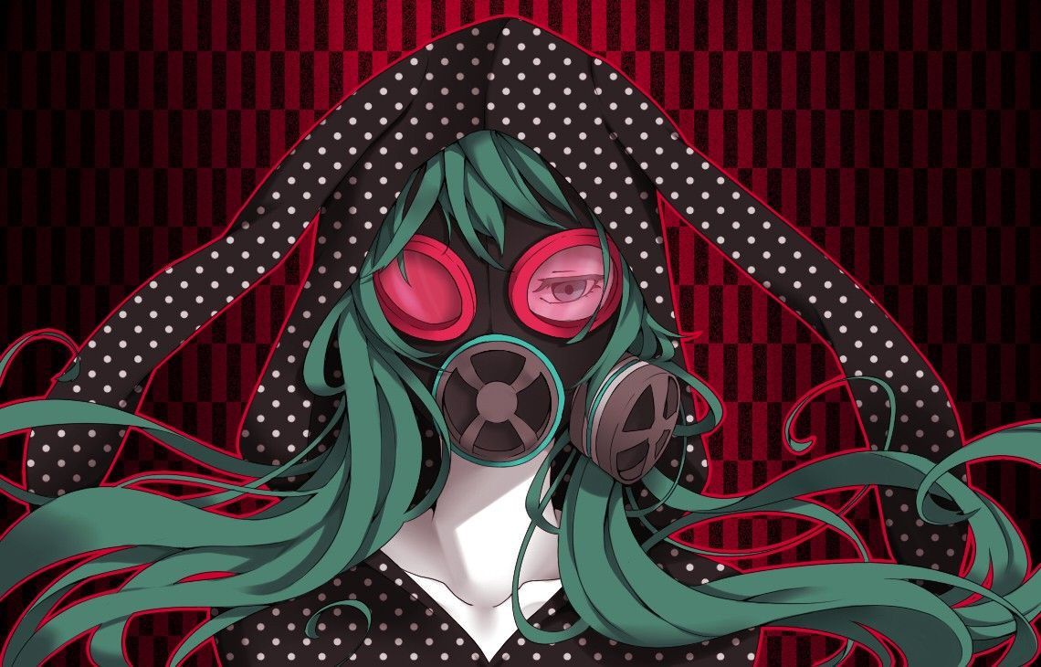 Vocaloid hatsune miku long hair gas masks anime girls - Anime girl with gas mask ...