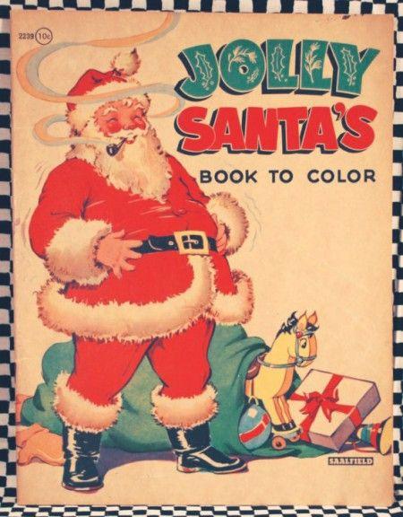 old fashion santa coloring pages - photo#39