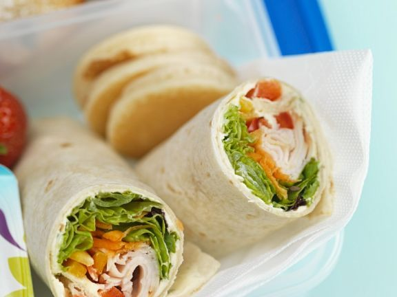 Wrap Ideen Chicken Wraps | Rezept In 2020 | Chicken Wraps, Wraps ...