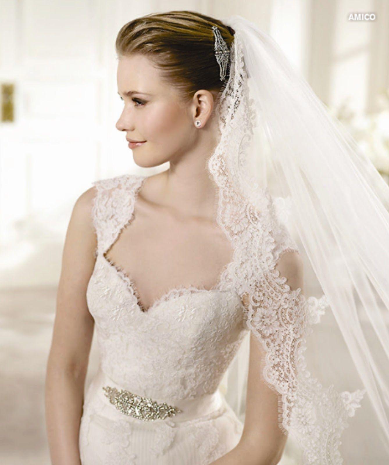 Vestidos de casamento modernos com renda