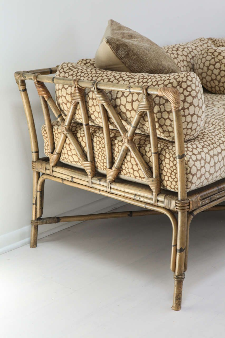 Vintage Bamboo Daybed Sofa 1stdibs Com Bamboo Sofa Bamboo Chair Bamboo Chair Design