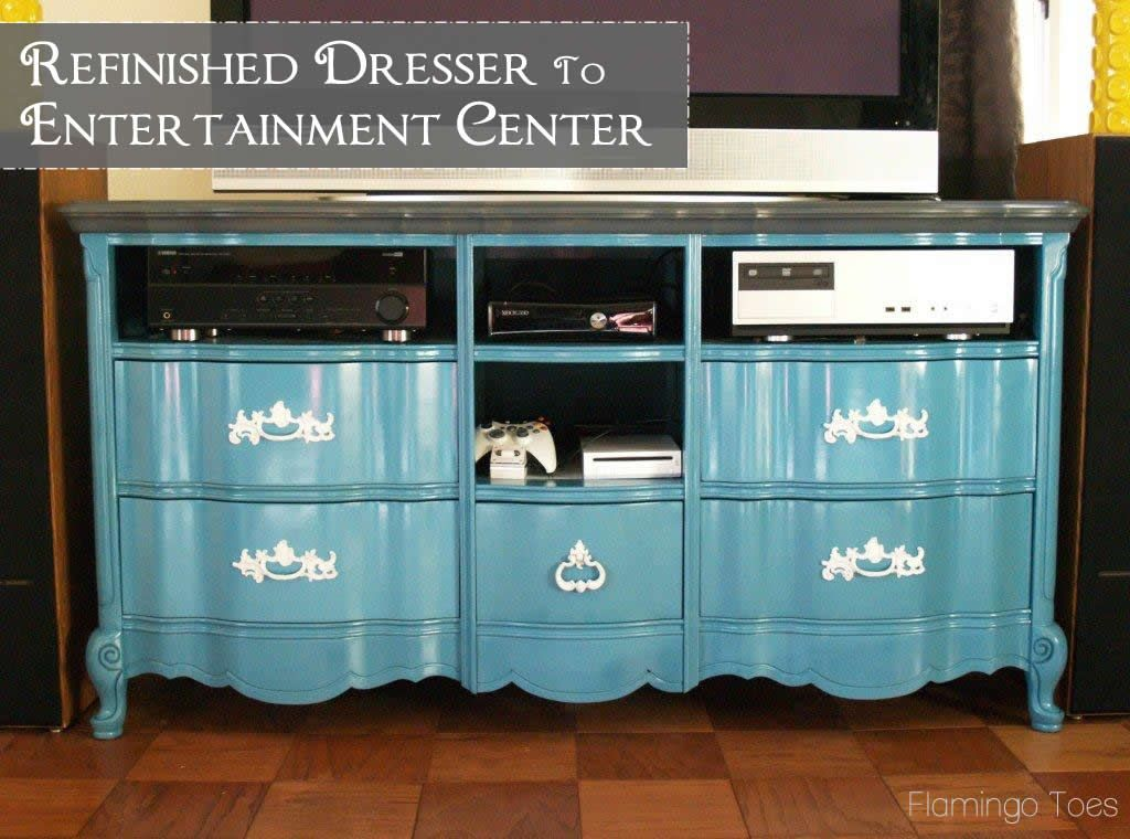 dresser entertainment to upcycled center feature