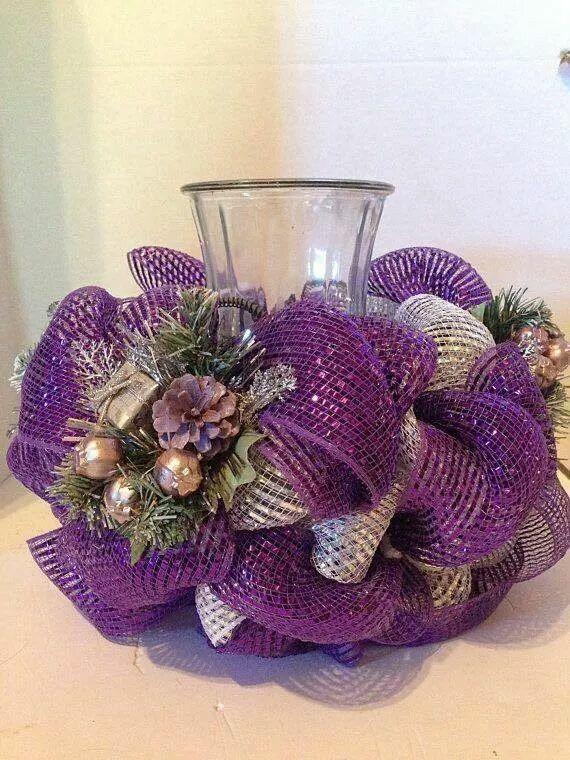 Pin by Shannon Kelley on festive table settings | Purple ...