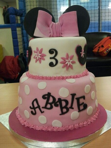 Minnie mouse Bow and Ears Cake