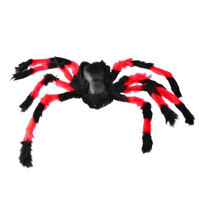 75cm Large Size Plush Spider Made Of Wire And Plush Halloween Props - large halloween decorations