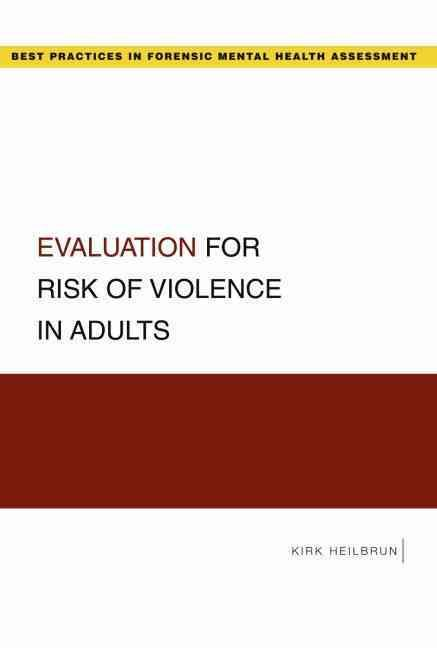 Evaluation For Risk Of Violence In Adults  Products