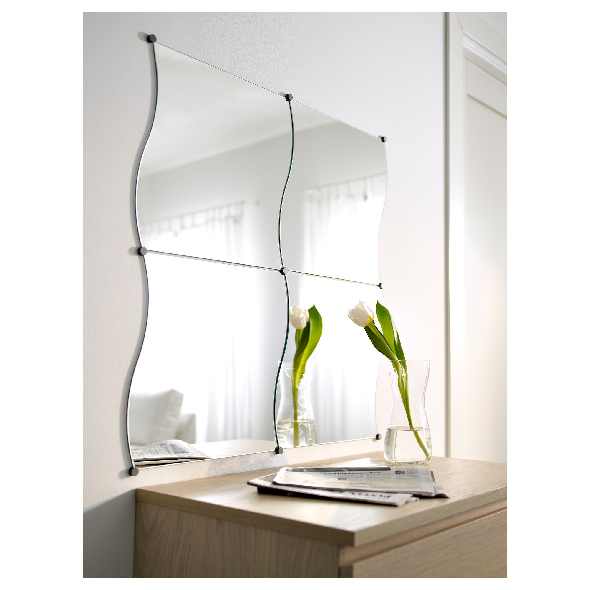 Krabb mirror ikea salon pinterest room krabb mirror ikea can be added on to to make any shape or size safety film reduces damage if glass is broken amipublicfo Gallery