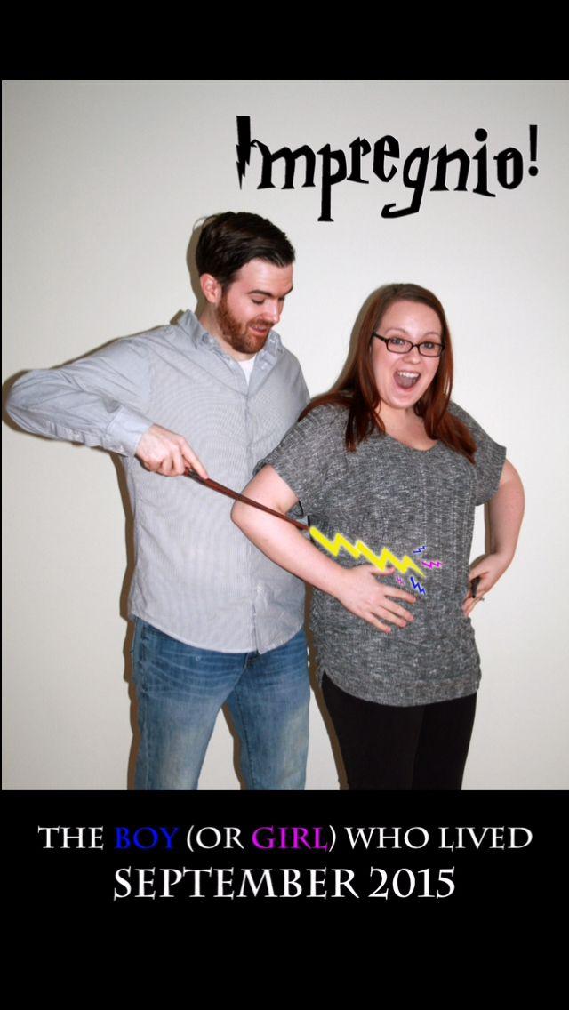 Harry Potter pregnancy announcement Baby announcement Impregnio – Fun Baby Announcement