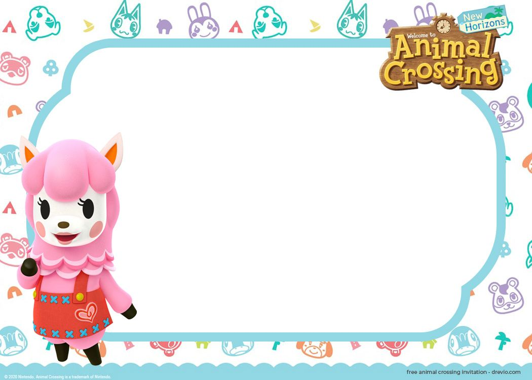 (FREE) 32++Animal Crossing NEW Horizons Invitation