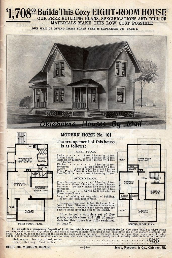 Sears 1908 4th Edition Pg39 House Plans With Pictures House Plans Sears Catalog Homes