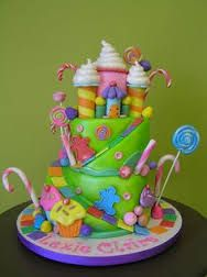 Image result for candy land birthday party cakes