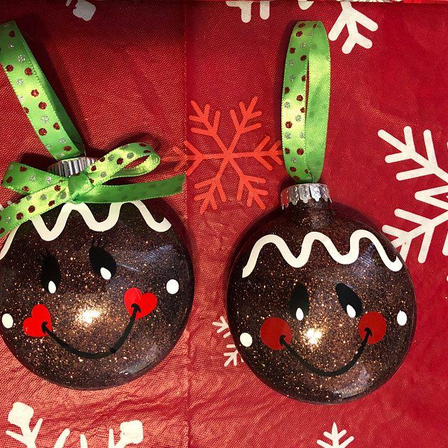 Gingerbread Face disc ornament SVG and DXF Diy santa