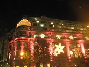 Wonderful Holiday Lights And Shop Windows At Paris Department Stores: Christmas Lights  At Printemps Department Store