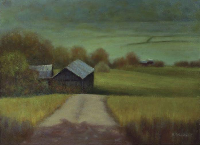Go Around The Bend by Deborah Angilletta Oil ~ 18 x 24