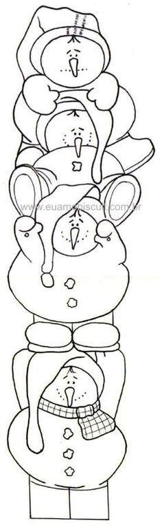 snowman family coloring pages Google Search sznez Pinterest