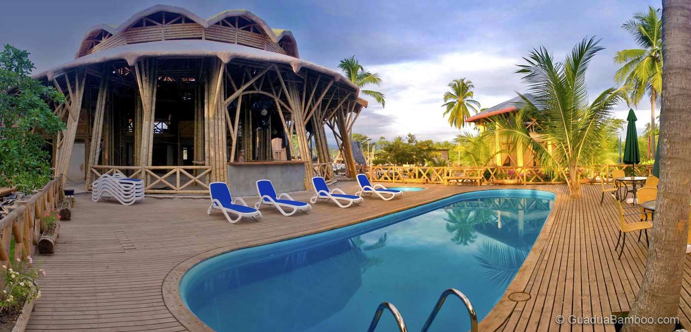 Timarai Bamboo Beach Resort Bamboo construction