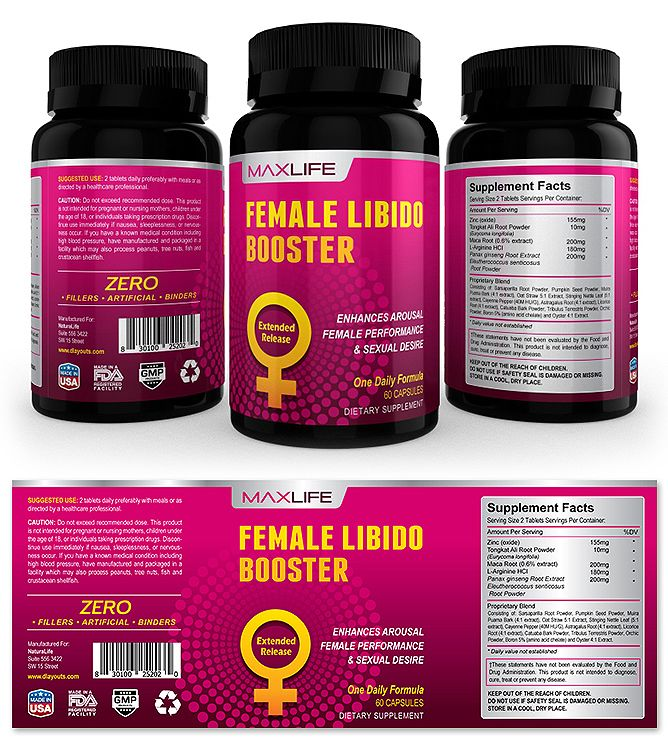 Female Libido Booster Supplement Label Template    www - labeltemplate