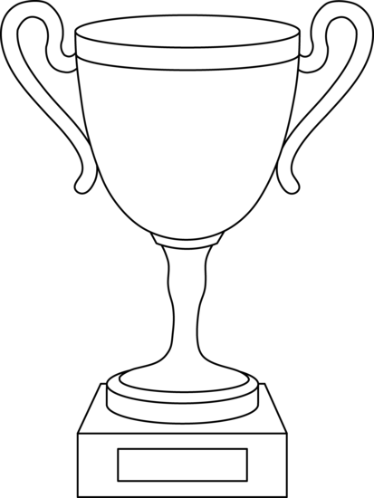 trophy coloring pages trophy coloring page
