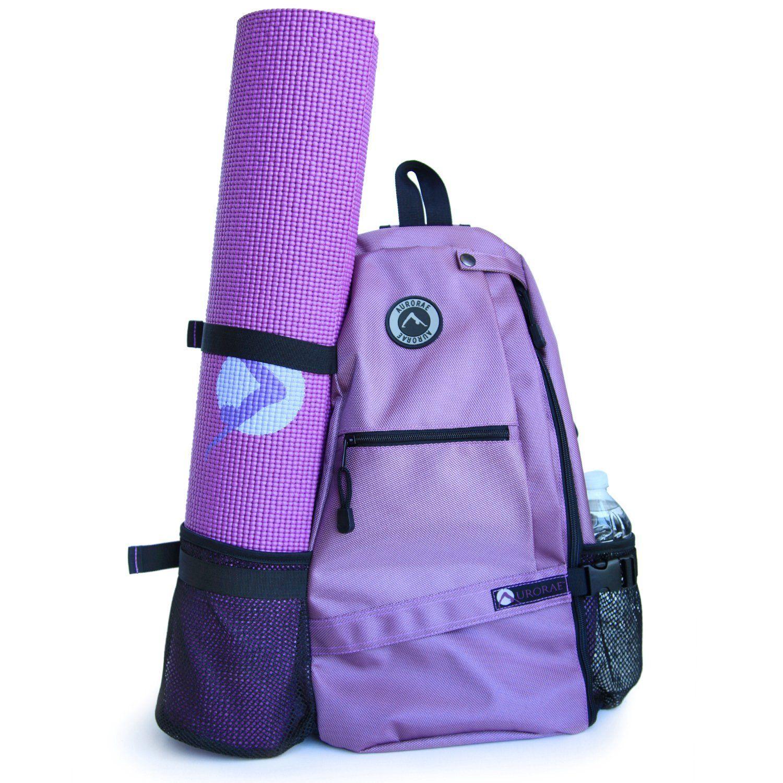 adcf5141eb76 Amazon.com   Aurorae Yoga Mat Sport Bag Multi Purpose Crossbody Sling  Backpack. Great for Yoga