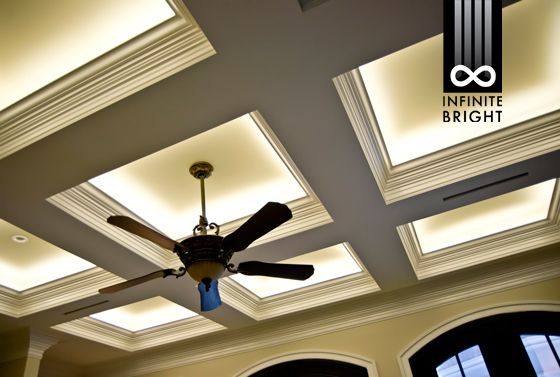 Led Coffered Ceiling Google Search False Ceiling Living Room
