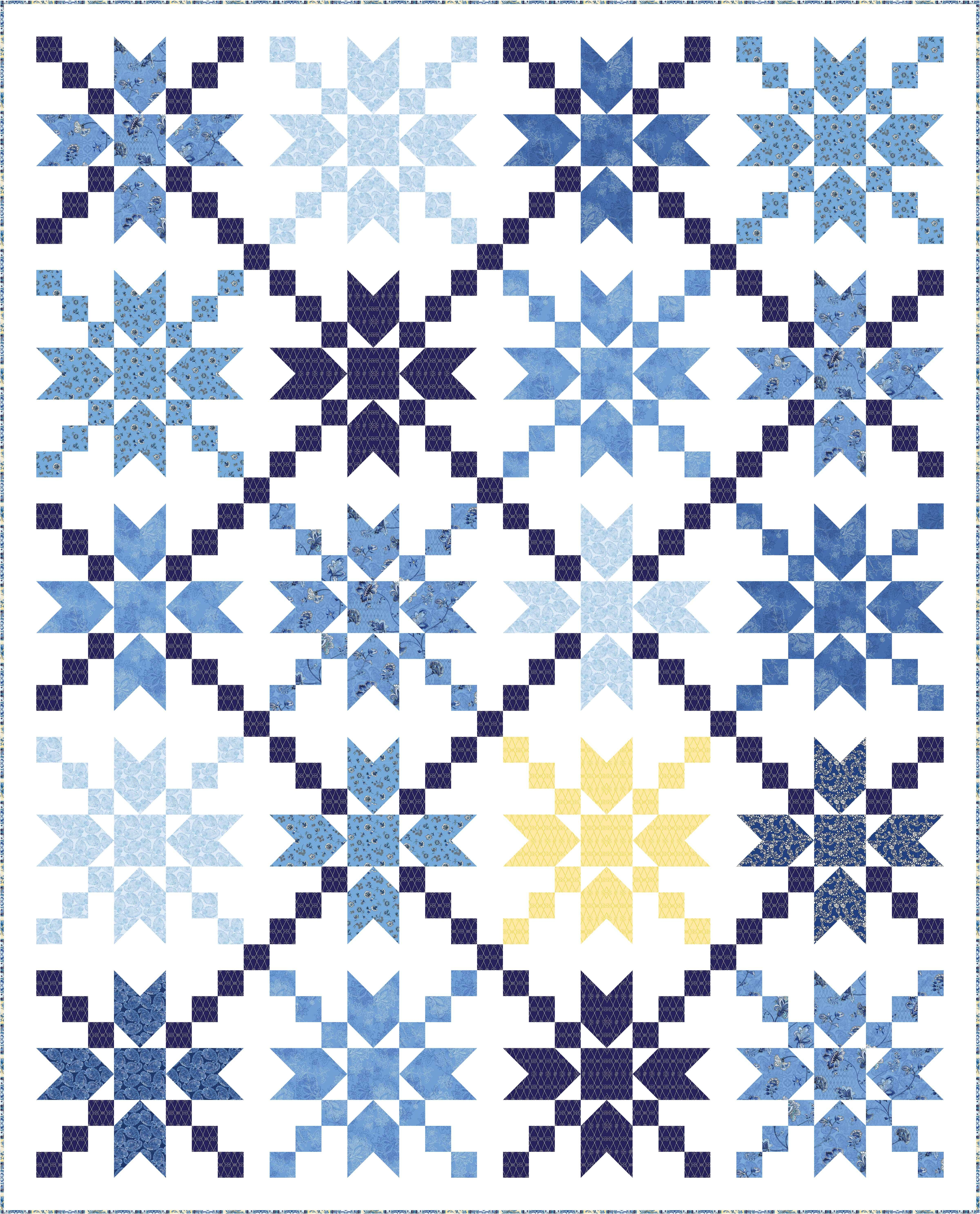 Check Out Our Free Star Dust Quilt Pattern Using The Collection