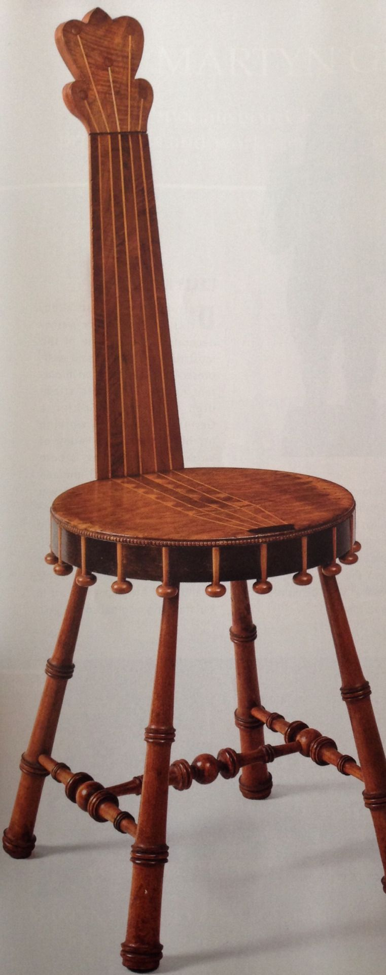 A Banjo Chair Made In New England About 1900 10